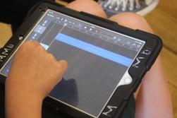 Editing audio on Garageband